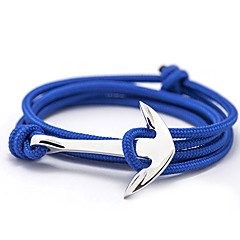 Bracelet/Anchor Bracelet Handmade Alloy Rope Inspirational Bracelet for Men Women Friendship Bracelet Jewelry Gift Multilayer Charm Cuff Bracelet 1 pc