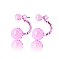Earring Stud Earrings Jewelry Women Acrylic 2pcs Silver
