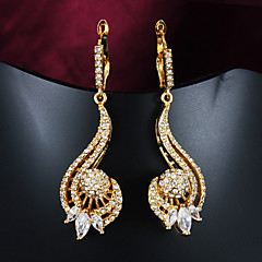 Earring Stud Earrings Jewelry Women Wedding / Party / Daily / Casual Zircon / Gold Plated 2pcs Gold
