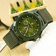 Men's Military Style Fabric Band Quartz Analog Wrist Watch (Assorted Colors) Cool Watch Unique Watch