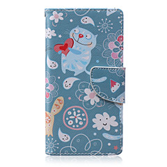 Loving Cat Painted PU Phone Case for Sony Xperia M2/M4