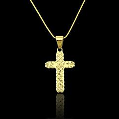 18K Real Gold Plated Cross Pendant 1.9*3.9CM