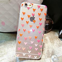 Varten iPhone 6 kotelo / iPhone 6 Plus kotelo Läpinäkyvä / Kuvio Etui Takakuori Etui Sydän Pehmeä TPU iPhone 6s Plus/6 Plus / iPhone 6s/6