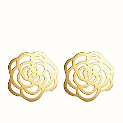 Kolczyki na sztyft Modny Pusty Europejski Stop Flower Shape Cross Shape Silver Golden Biżuteria Na Impreza Codzienny Casual 2pcs