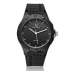 Masculino Relógio de Pulso Quartz Borracha Banda Preta marca- V6