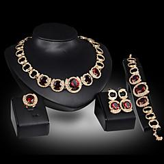 Schattig / Feest - Ketting / Oorbel / Armband / Ring (Verguld / Legering / Edelsteen & Kristal / Zirkonia)voor Dames