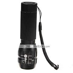פנס LED LED 3 מצב 500 Lumens עמיד למים / ניתן לטעינה מחדש / עמיד לחבטות / Strike Bezel / חירום / Zoomable Cree Q5 AAAמחנאות/צעידות/טיולי