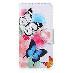 Na Samsung Galaxy Note Etui na karty / Portfel / Z podpórką / Flip Kılıf Futerał Kılıf Motyl Skóra PU Samsung Note 5 / Note 4 / Note 3