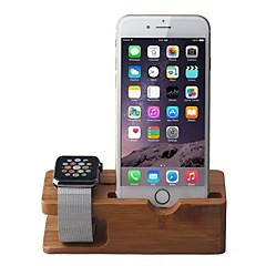 alma nézni és iPhone bambusz állni töltődokkoló állomás tartó bölcső tartó Apple karóra iwatch