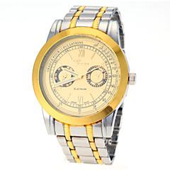 Men Fashion Business Design Steel Band Quartz Watch