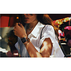 luksus ægte læder ur band rem armbånd udskiftning håndled band med adapter lås til Apple ur 42mm / 38mm