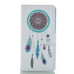 For Huawei Case / P8 / P8 Lite Card Holder / Wallet / with Stand / Flip Case Full Body Case Dream Catcher Hard PU Leather HuaweiHuawei P8