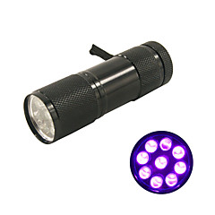 nieuw! mini uv ultraviolette 9 LED zaklamp zwart licht zaklamp lamp