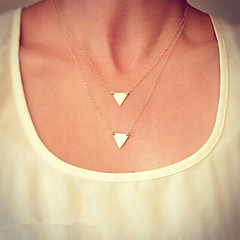 HUALUO®Simple and Stylish Suit Multilayer Triangle Necklace