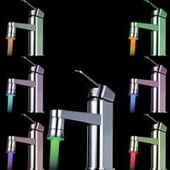 färgrik diskbänk universaladapter ledde kran munstycke (automatisk färgförändring)
