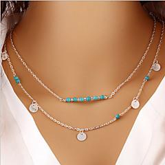 Modische Halsketten Anhängerketten Schmuck Party / Alltag Modisch Aleación Goldfarben / Silber 1 Stück Geschenk