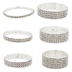 Fashion Brimmy Silver Plated Crystal Bracklet