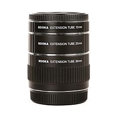 kooka af métallique tubes d'extension macro kk-O68 pour Olympus OM 4/3 (12mm 20mm 36mm) objectif de la caméra SLR photographie rapprochée