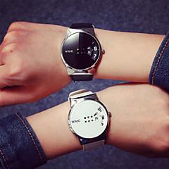Αντρικά Καθημερινό Ρολόι Ρολόι Καρπού Ψηφιακό Ανθεκτικό στο Νερό Καθημερινό Ρολόι PU Μπάντα Απίθανο Μαύρο Λευκή Λευκό Μαύρο