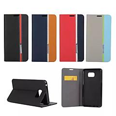 For Samsung Galaxy Note Kortholder Med stativ Flip Etui Heldækkende Etui Linjeret / bølget Kunstlæder for Samsung Note 5 Note 4 Note 3