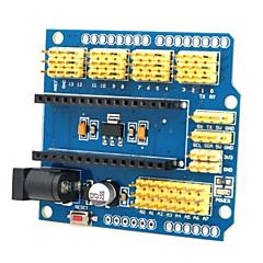wielofunkcyjne nano uno ekspansja planszowa dla Arduino Duemilanove 2009 / uno r1 - żółty + niebieski