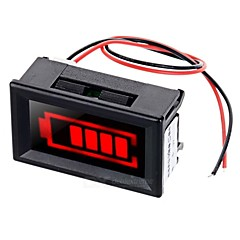 rødt lys elektrisk mængde displayer m / strobe alarm for 12v bly-syre akkumulator