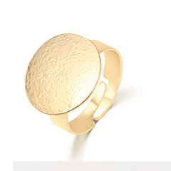 Lureme®  European Style Fashion  Individuality Gold  Roundness Alloy Cuff Rings