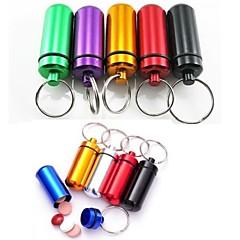 "Travel Pill Box/CaseForTravel Accessories for Emergency Metal 1.85""*0.53""*0.53""(4.7cm*1.35cm*1.35cm)"
