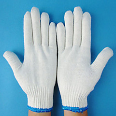 2 Pairs White Anti Skid Labor Electronic Work Gloves Garden Protection Thicken