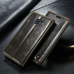 CaseMe Luxury Genuine Leather Wallet Card Slot Cover Flip Case With Stand For Samsung Galaxy S4/S5/S6/S6 Edge/S6 Edge +