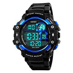 Мужской Наручные часы Цифровой LED / Календарь / Секундомер / Защита от влаги / тревога / Спортивные часы PU Группа Черный бренд-