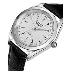 Men's Fashion Casual Genuine Leather Quartz Watches Cool Watch Unique Watch