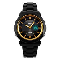 Dames Modieus horloge Kwarts LED / Kalender / Chronograaf / Waterbestendig / Dubbele tijdzones / alarm / Sporthorloge Plastic BandZwart /