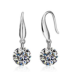 Pure Women's 925 Silver-Plated High Quality Handwork Elegant Earrings