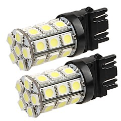 2 * 3157 4057 t20 voiture queue ampoule de clignotant de sauvegarde 5050SMD blanc pur 27 LED Light 12v