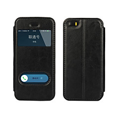 Varten iPhone 5 kotelo Tuella / Ikkunalla / Flip Etui Kokonaan peittävä Etui Yksivärinen Kova Tekonahka iPhone SE/5s/5