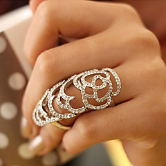 European Style Hollow Out Rose Full Crystals Ring
