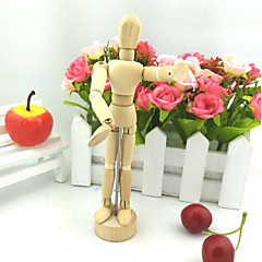 5.5 Inch Joints Wood Children Wooden Mannequin Toy Home Decoration Model