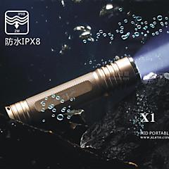 LED손전등 ( 방수 / 충전식 / 슬립 방지 그립 / 스트라이크베젤 / 응급 / 작은 사이즈 / 주머니 / 나이트 비젼 / 자기 방어 / 슈퍼 라이트 ) - LED 5 모드 800 루멘 18650 Cree XM-L T6 배터리 -