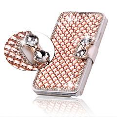 Luksusowa Bling kryształu diamentu skóra pokrywa torba z klapką do Samsung Galaxy S3 / S4 / S5 / S6 / S6 krawędzi / EDGE S6 oraz