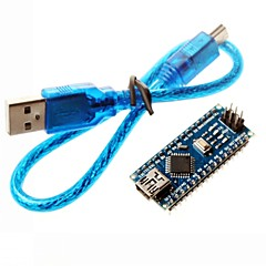 ננו 3.0 Atmel לוח mini-USB atmega328p w / כבל USB לArduino