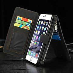 πολυτέλεια πολλαπλών λειτουργιών διάσπαση φερμουάρ πορτοφόλι κάρτα κινητό τηλέφωνο περίπτωση για το iphone 6s 6 συν