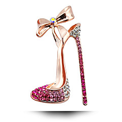 South Korean Wedding Diamond Brooch Bow High-Heeled Shoes