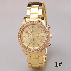 Geneva Geneva Three Diamond Stainless Steel Alloy Strip Steel Quartz Watch Cool Watches Unique Watches