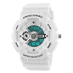 Skmei® Women Dual Time Zone Sprots Multifunction LED Wrist Watch 50m Waterproof Assorted Colors Cool Watches Unique Watches Fashion Watch