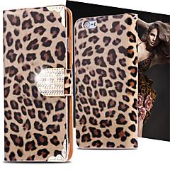 Na Etui iPhone 6 / Etui iPhone 6 Plus Portfel / Etui na karty / Stras / Z podpórką / Flip Kılıf Futerał Kılıf Cętki Twarde Skóra PUiPhone