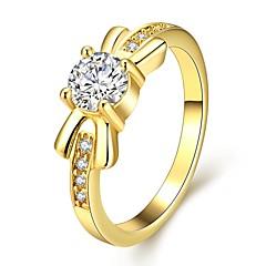 Ringen Bruiloft / Feest / Dagelijks Sieraden Zirkonia / Verguld / Roos verguld Dames Statementringen 1 stuks,7 / 8 Gouden / Goud Rose