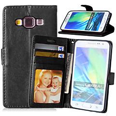 Varten Samsung Galaxy kotelo Korttikotelo / Tuella / Flip / Magneetti Etui Kokonaan peittävä Etui Yksivärinen Tekonahka Samsung A5 / A3