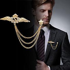 Mode edlen Inlay Diamant Engelsflügel Brosche