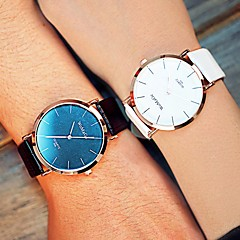 echtpaar ronde quartz mode riem horloge (verschillende kleuren)